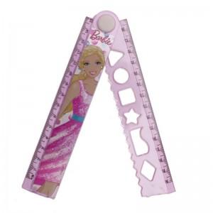 Rigla 30cm extensibila Barbie
