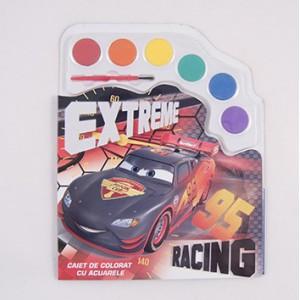 Caiet de colorat cu acuarele Cars