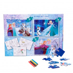 Puzzle 3in1 + Bonus Frozen
