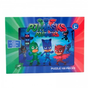 Puzzle 100 piese PJ Masks