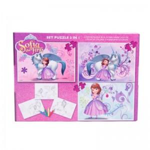 Puzzle 3in1 + Bonus Sofia