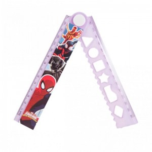 Rigla extensibila 30cm Spider-Man