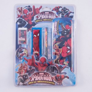 Set penar metalic echipat Spider-Man