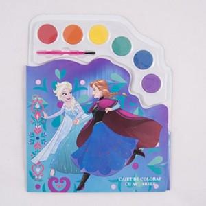 Caiet de colorat cu acuarele Frozen