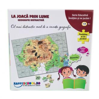 """Puzzle 2 in 1 """"La joaca prin lume """""""