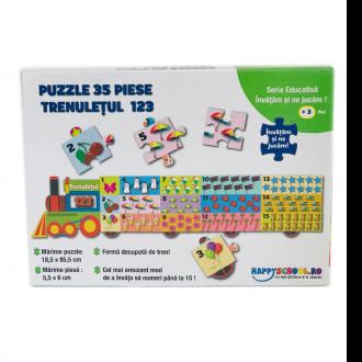 Trenuletul 123 – Puzzle educativ
