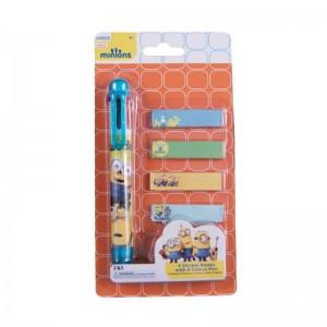 Pix 6 culori + memo stick Minions