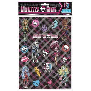 Abtibilduri 3D Monster High