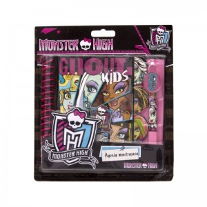 Agenda cu pix Monster High