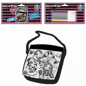 Set creativ geanta si carioci Monster High