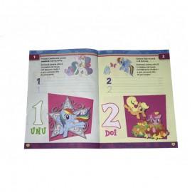 Carte de colorat cu cifre si exercitii My Little Pony