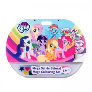 Mega set de colorat 5in1 My Little Pony