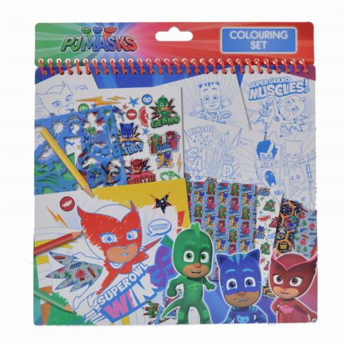 Caiet de colorat cu sabloane PJ Masks