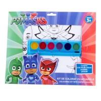 Kit de colorat cu acuarele A4 PJ Masks