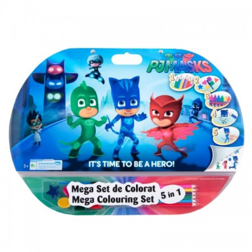 Mega set de colorat 5in1 PJ Masks
