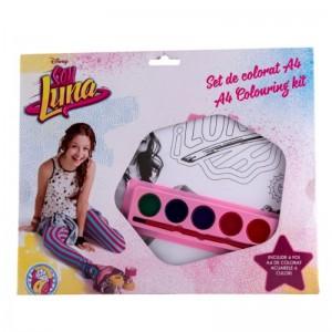 Kit de colorat A4 cu acuarele Soy Luna