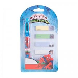 Pix 6 culori + memo stick Spider-Man
