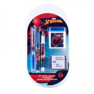 Set stilou, roller, 10 rezerve Spider-Man