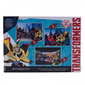 Puzzle Transformers 3 in 1