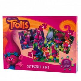 Puzzle 3 in 1 Trolls